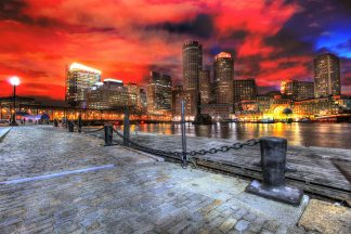 Amazing Boston Cityscape at Night 01