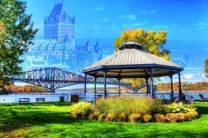 Quebec City Park and Bridge