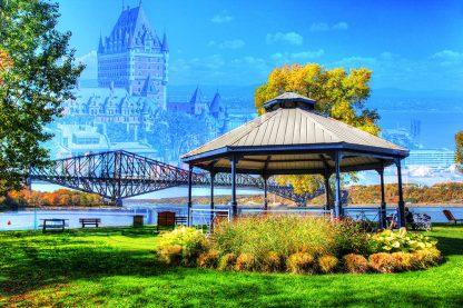Beautiful Quebec City Park and Bridge 1