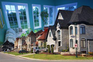 Cozy Neighborhood Photo Montage