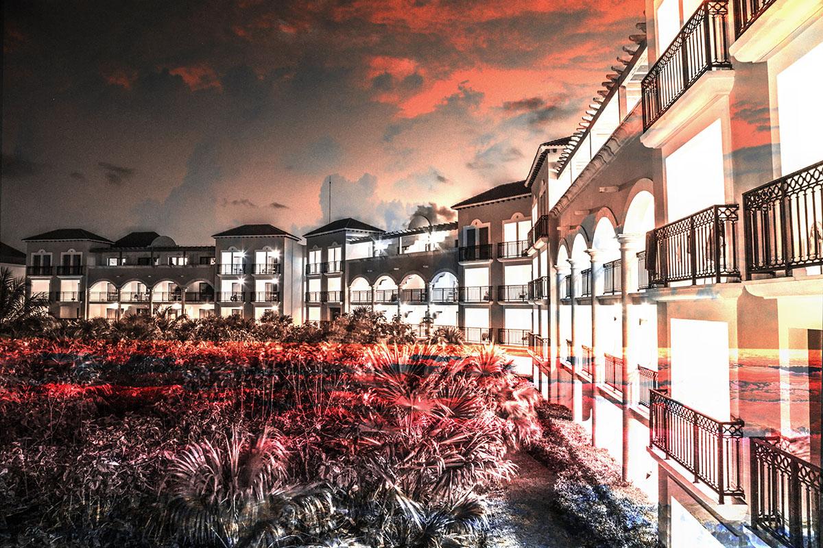 Hotel Resort Photo Montage 02 - RF Stock Image