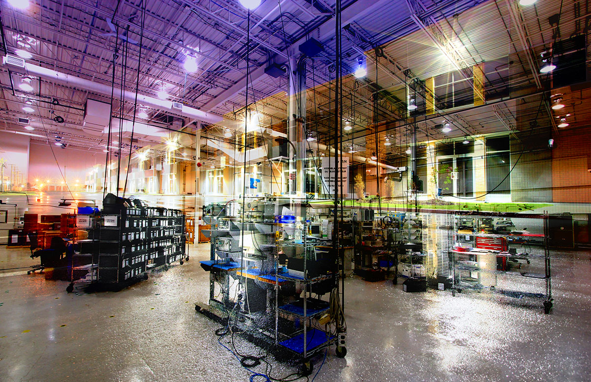 Industry Interior Photo Montage - RF Stock Image
