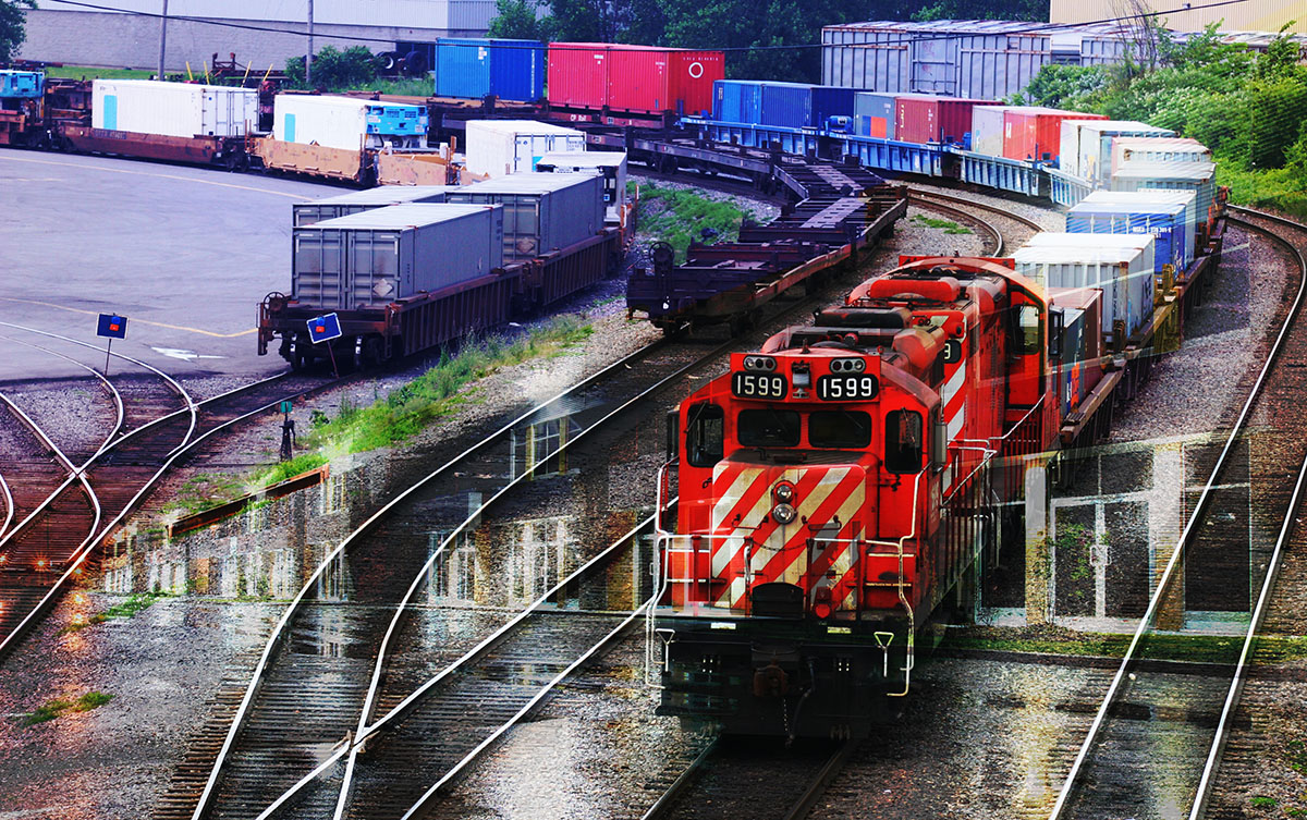 Railroad Transport Concept Photo Montage 01 - RF Stock Image