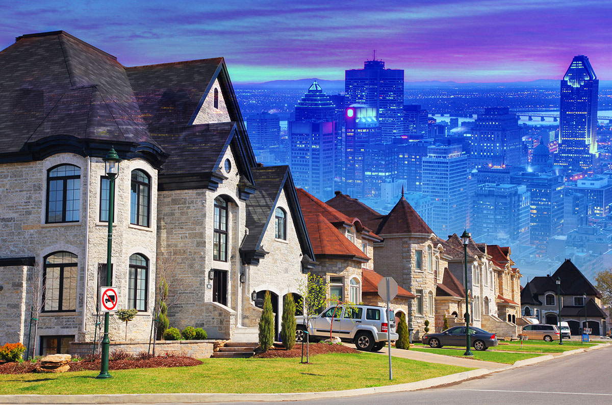 Urban Sprawl Photo Montage - RF Stock Image