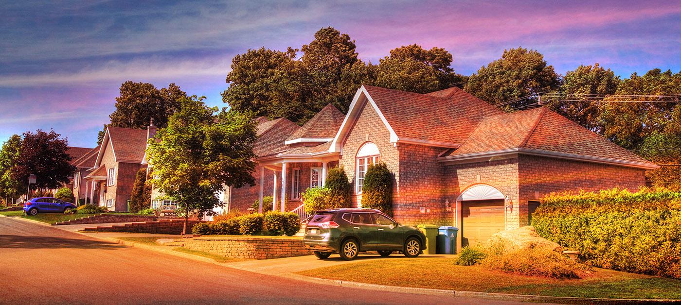Cozy Neighborhood 01 - RF Stock Image