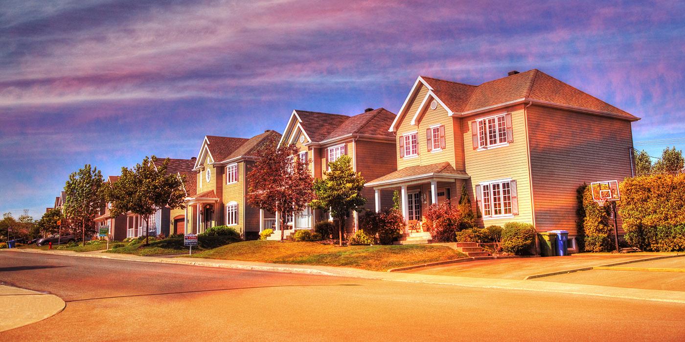 Cozy Neighborhood 02 - RF Stock Image