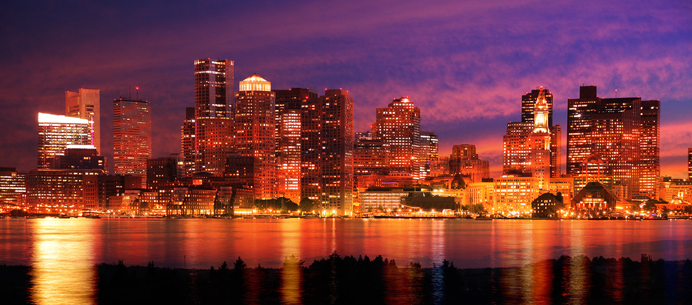 Downtown Boston Skyline - RF Stock Image