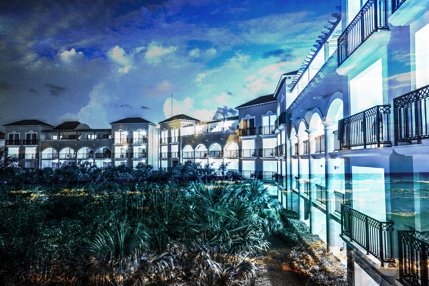 Hotel Resort Photo Montage 03 - RF Stock Image