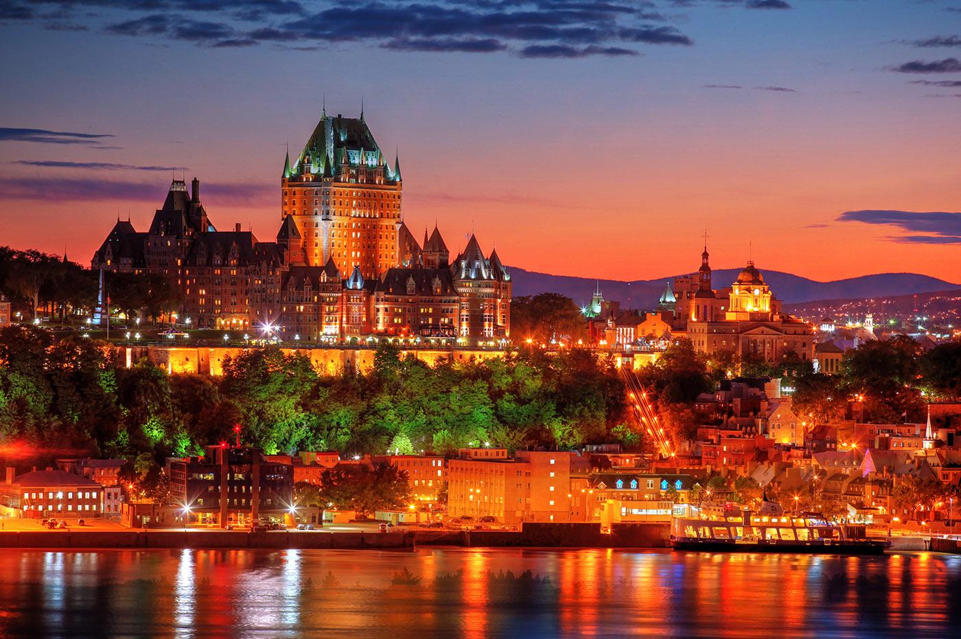 Quebec Frontenac Castle Montage 02 - RF Stock Image