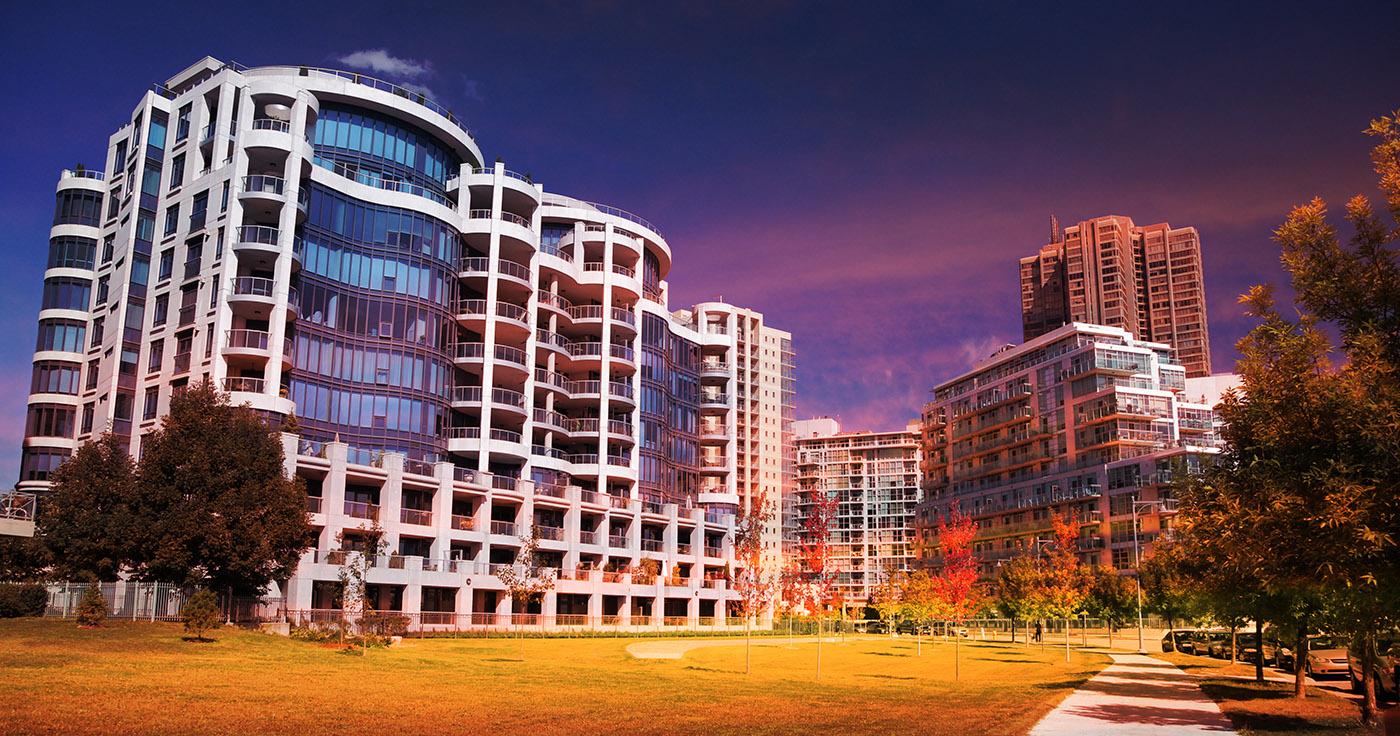 Urban Condominium Park - RF Stock Image