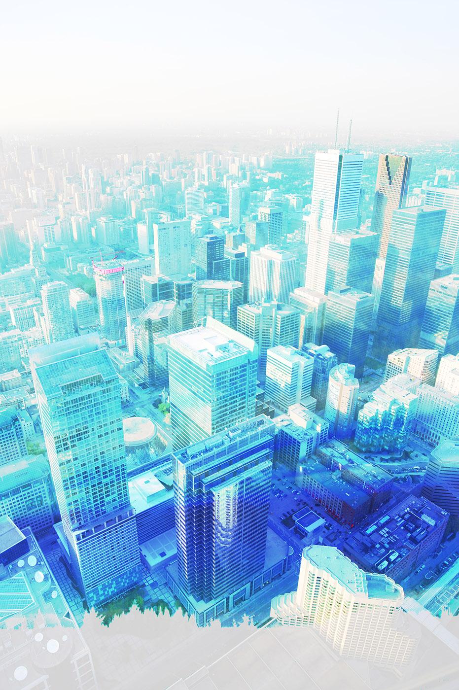Urban Vertical Cityscape - RF Stock Image