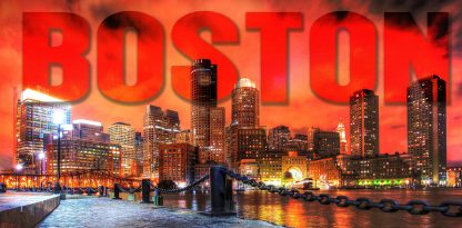 Boston City with Text 1