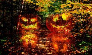 Halloween Scary Wood 1