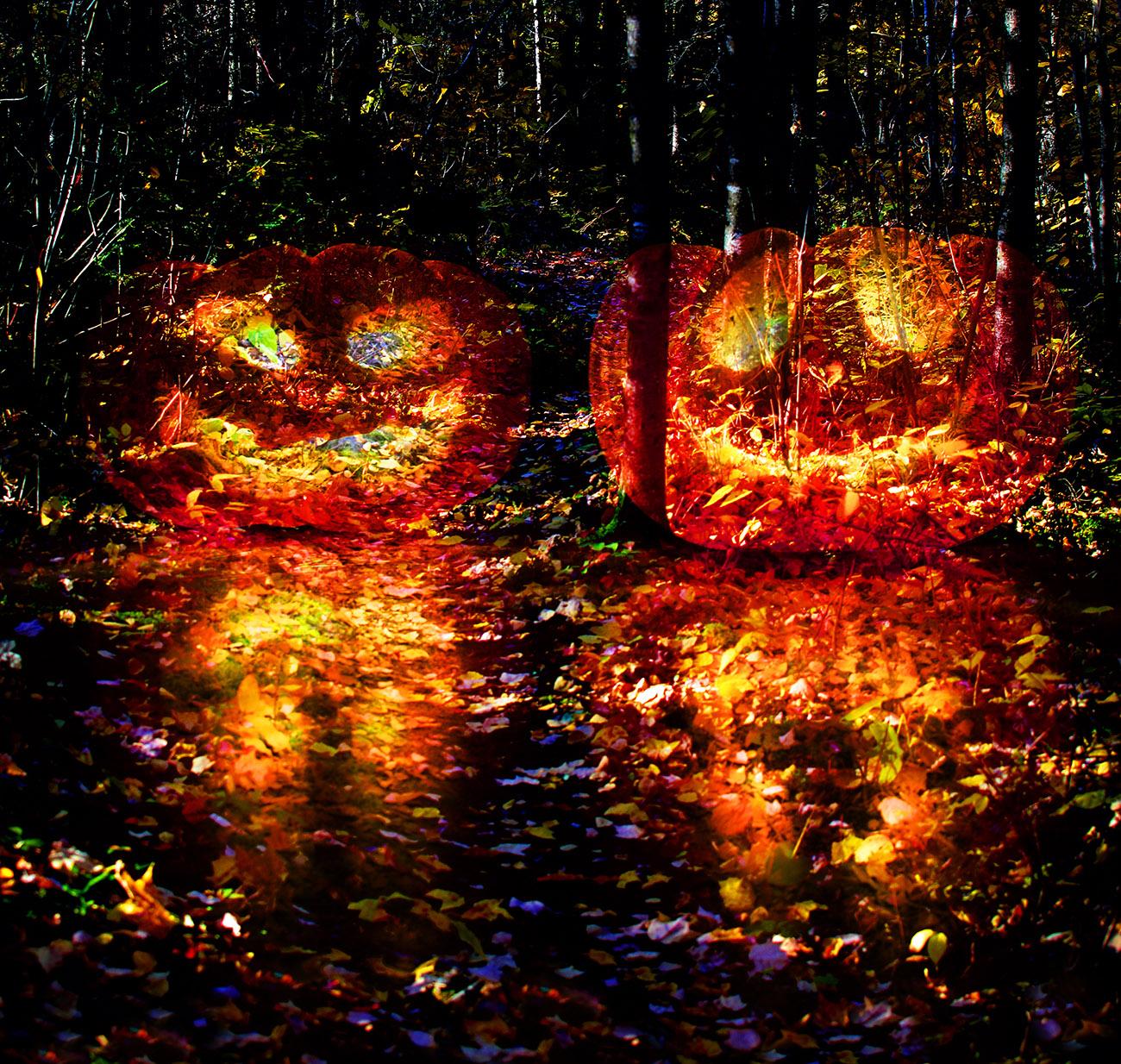 Halloween Scary Wood 3 - RF Stock Image