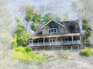 Beautiful-Country-House-Sketch-Image