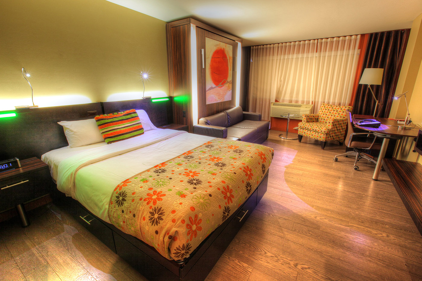 Colorful Hotel Room - RF Stock Image