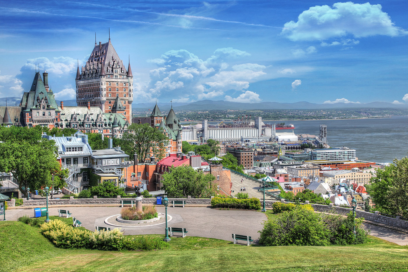 Old Quebec City District in Summer - RF Stock Image