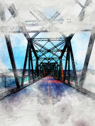 Old Saguenay City Bridge Sketch Image