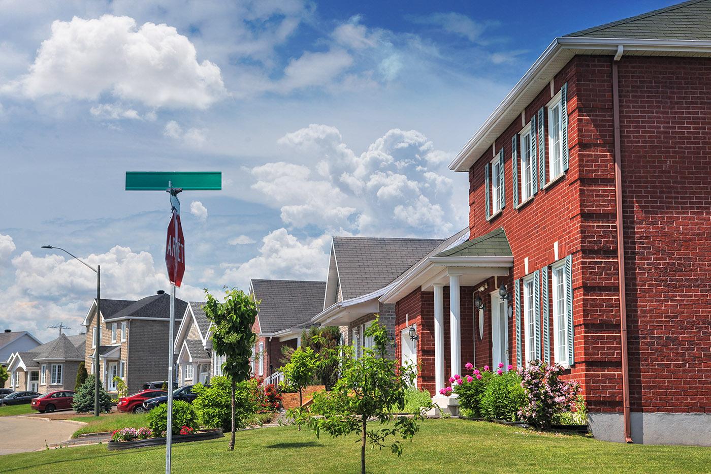 Quiet Neighborhood - RF Stock Image