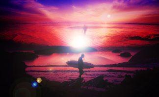 Colorful Beach Scenes Stock Photo Montage