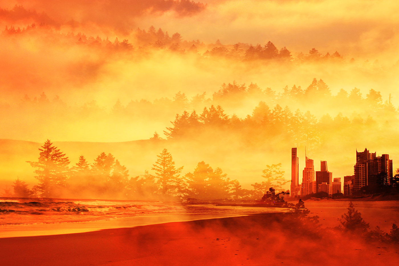 Colorful Apocalyptic Imagery 05 - RF Stock Image