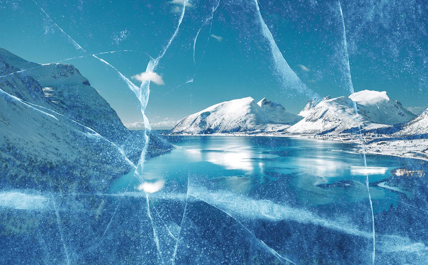 Unleashed Ice Age 02 - RF Stock Image