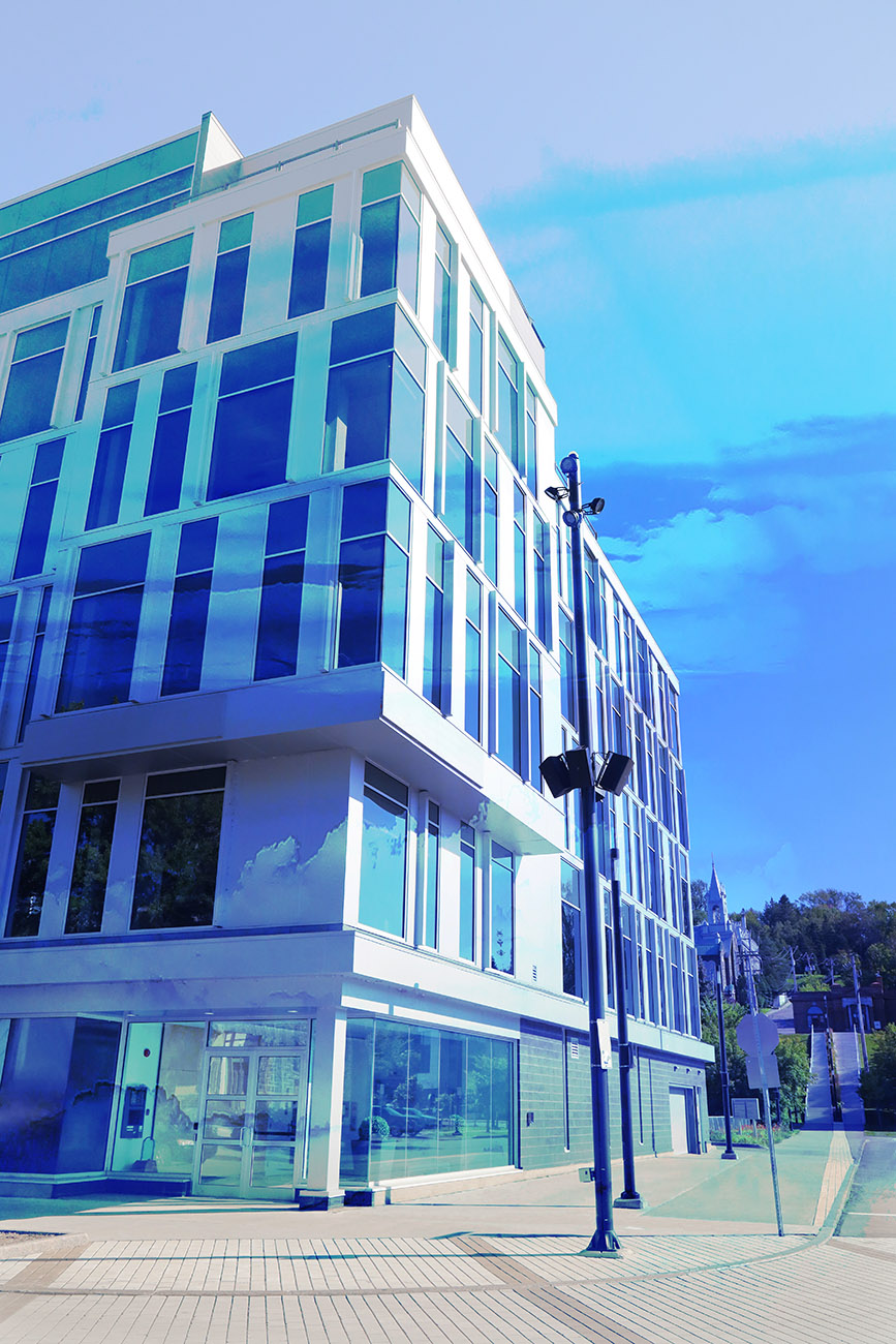 Street Corner Office Building 01 - RF Stock Image