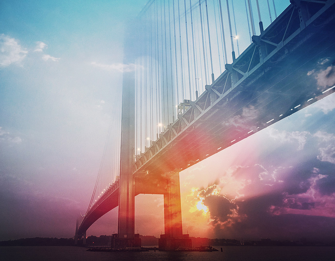 Surreal Suspension Bridge 01 - RF Stock Image