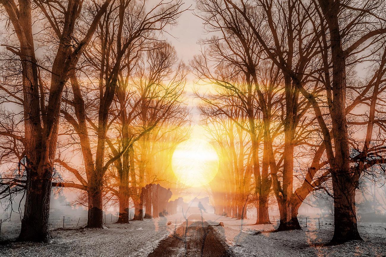 Wintery Road 01 - RF Stock Image