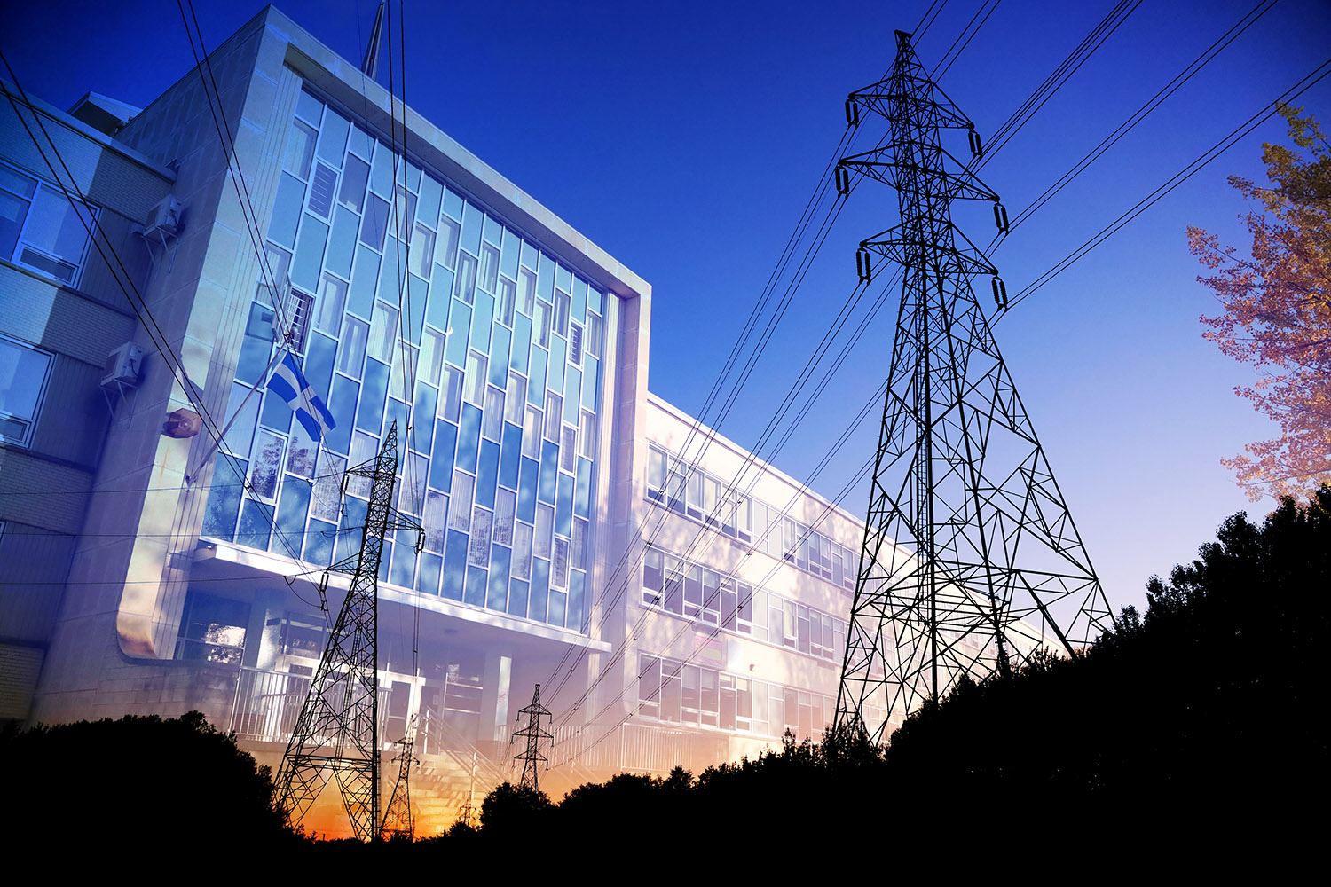 Commercial and Public Building Energy Efficiency - RF Stock Image