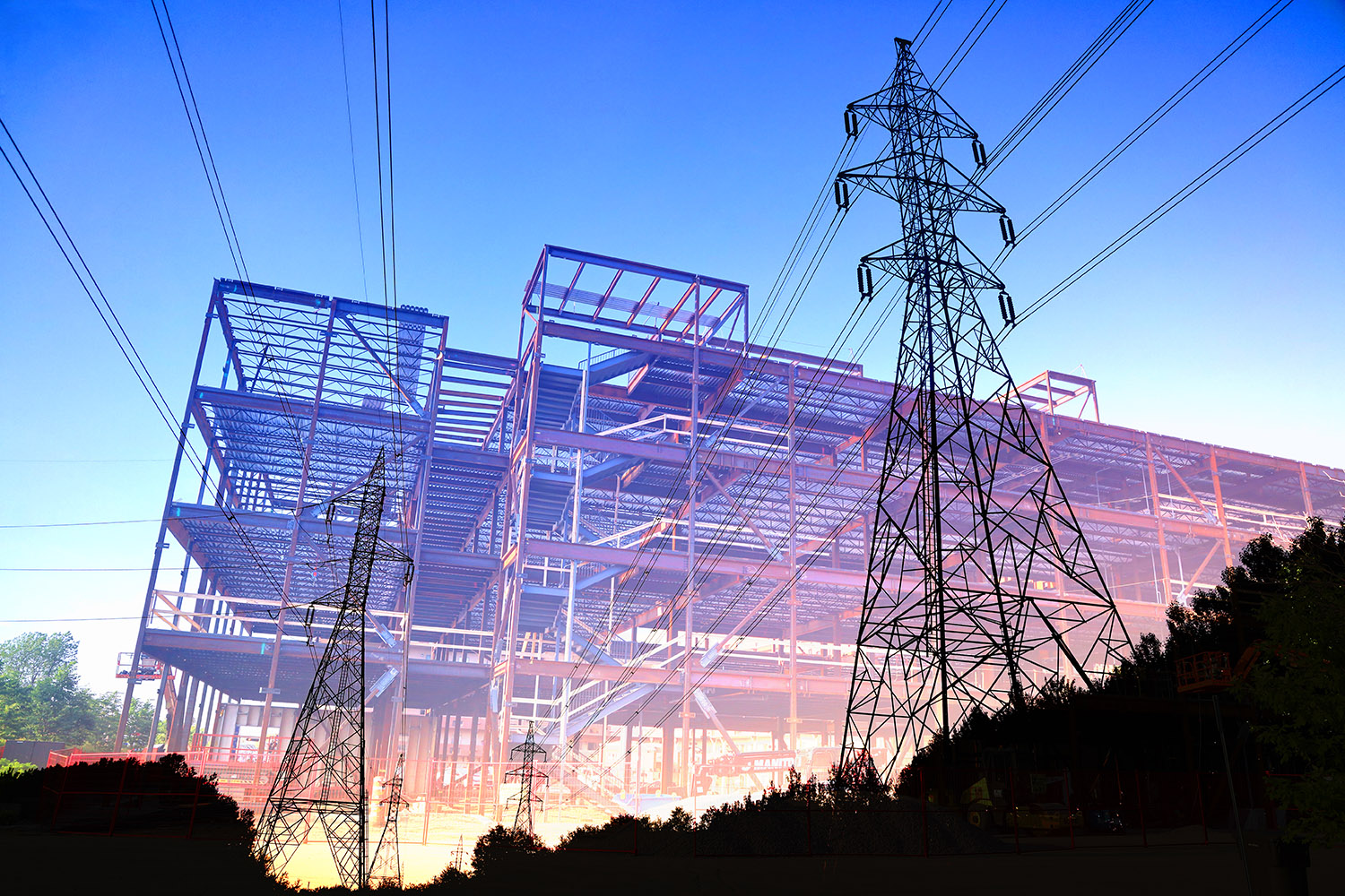 Construction Industry Electrification Concept - RF Stock Image