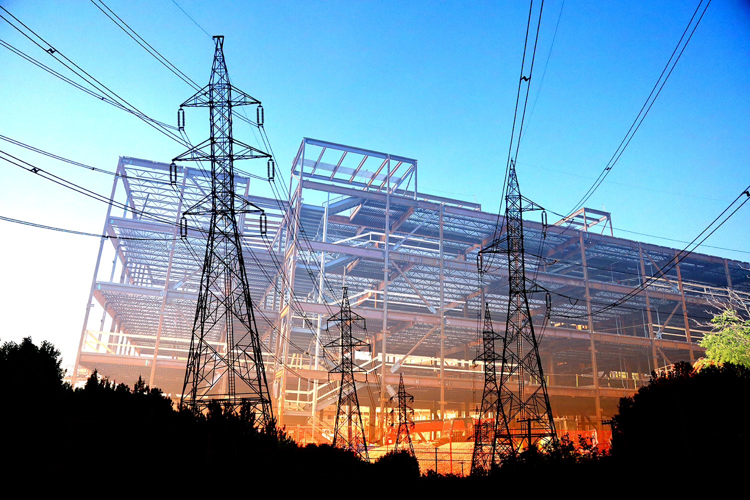 Modern Construction Industry Electrification - RF Stock Image